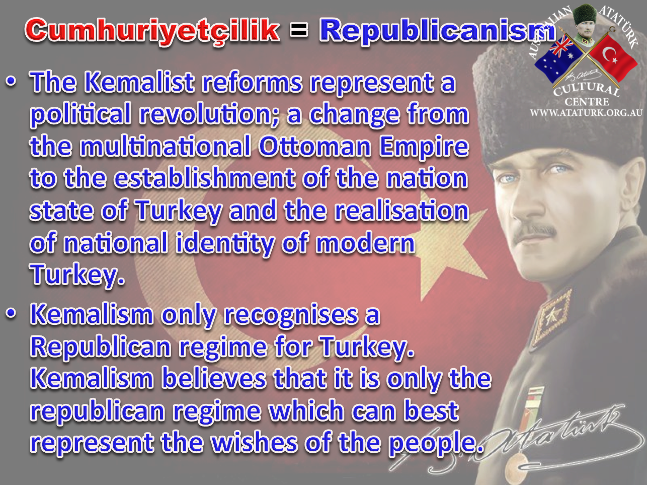 AAKM - Ataturk Principles and Reforms - 3 Republicanism
